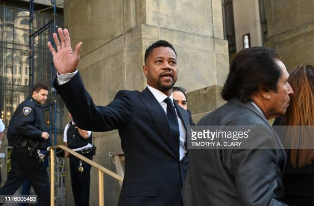 Oscar-winning actor Cuba Gooding Jr. Departs his court arraignment in New York on October 15 where new charges are to be unsealed on his sexual...