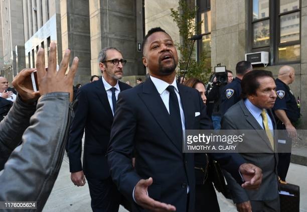Oscarwinning actor Cuba Gooding Jr departs his court arraignment in New York on October 15 where new charges are to be unsealed on his sexual assault...