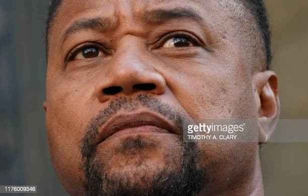 Oscar-winning actor Cuba Gooding Jr., departs his court arraignment in New York on October 15 where new charges are to be unsealed on his sexual...