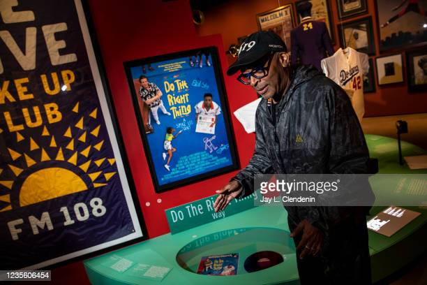 Oscar-winning director Spike Lee talks about a streek in New York being renamed after his 1989 classic film Do The Right Thing, while taking a...