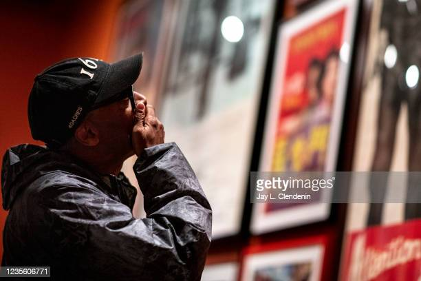 Oscar-winning director Spike Lee talks about actor Marlon Brando, whom he called one of his favorite actors, while taking a private tour of an...