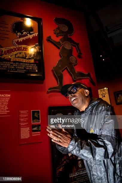 Oscar-winning director Spike Lee tells the story of the racist caricature shooting target, above him, that Instead of helping someone profit from...