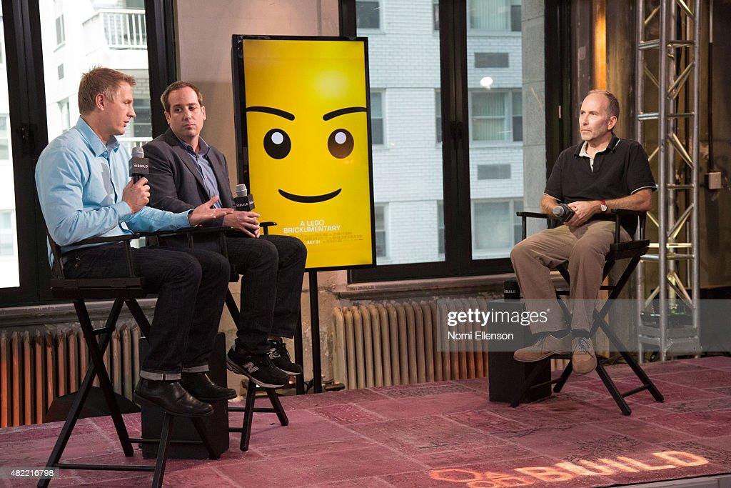 Oscar-winning filmmaker Daniel Junge and Oscar-nominated filmmaker Kief Davidson attend AOL Build Presents: 'A LEGO Brickumentary' at AOL Studios In New York on July 28, 2015 in New York City.