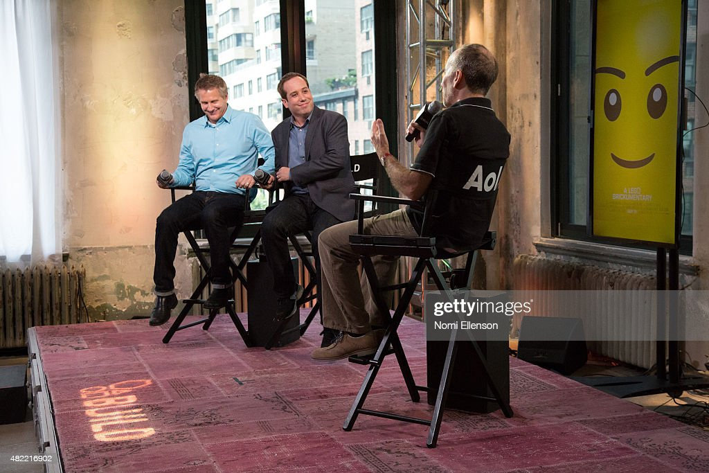 Oscar-winning filmmaker Daniel Junge and Oscar-nominated filmmaker Kief Davidson attend AOL Build Presents: 'A LEGO Brickumentary' at AOL Studios In New York on July 28, 2015 in New York City.