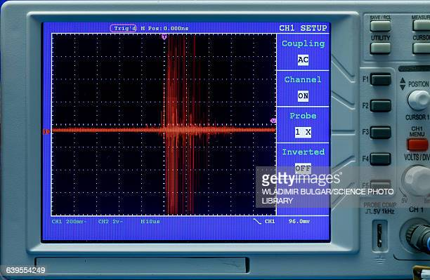 oscilloscope display panel - oscilloscope stock pictures, royalty-free photos & images