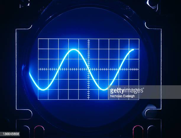 oscilloscope's screen - oscilloscope stock pictures, royalty-free photos & images