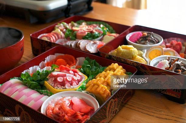 osechi - osechi ryori stock pictures, royalty-free photos & images