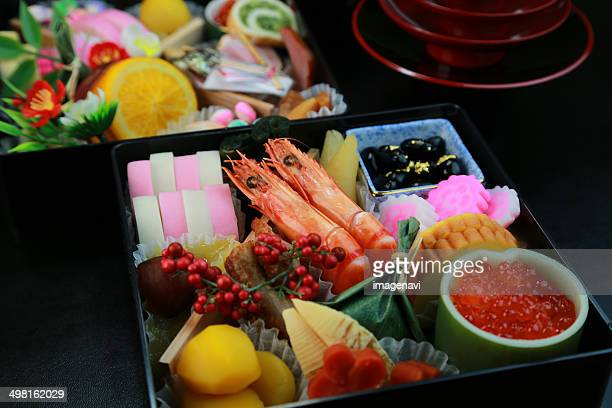 Osechi (Traditional Japanese New Year foods)