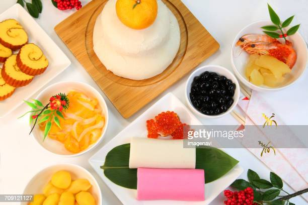 osechi(food served during the new years holidays) - osechi ryori stock pictures, royalty-free photos & images