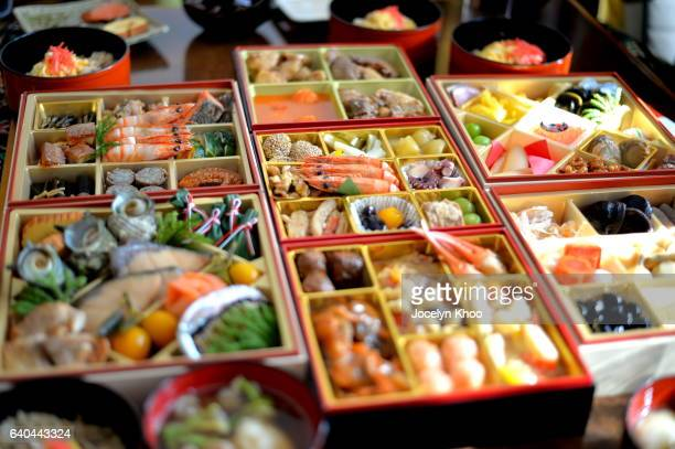 osechi ryori - new year's day stock pictures, royalty-free photos & images