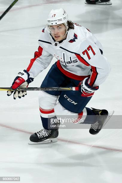 J Oshie of the Washington Capitols skates during a NHL game against the San Jose Sharks at SAP Center on March 10 2018 in San Jose California