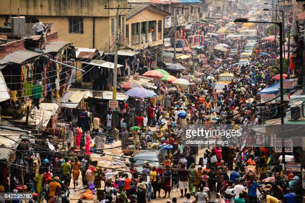 oshodi market - lagos nigeria stock pictures, royalty-free photos & images