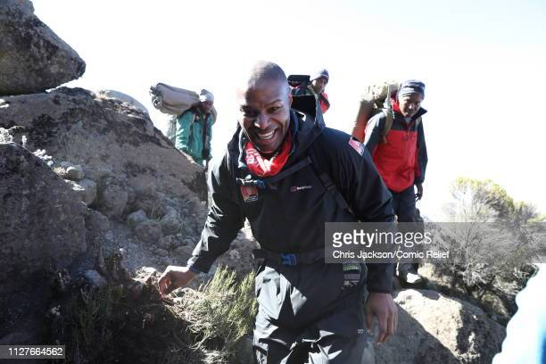Osi Umenyiora during day five of 'Kilimanjaro The Return' for Red Nose Day on February 27 2019 in Arusha Tanzania all to raise funds for Comic Relief...