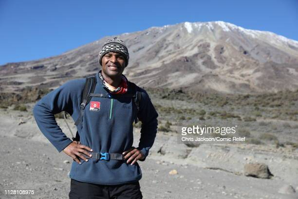 Osi Umenyiora poses during day six of 'Kilimanjaro The Return' for Red Nose Day on February 28 2019 in Arusha Tanzania all to raise funds for Comic...