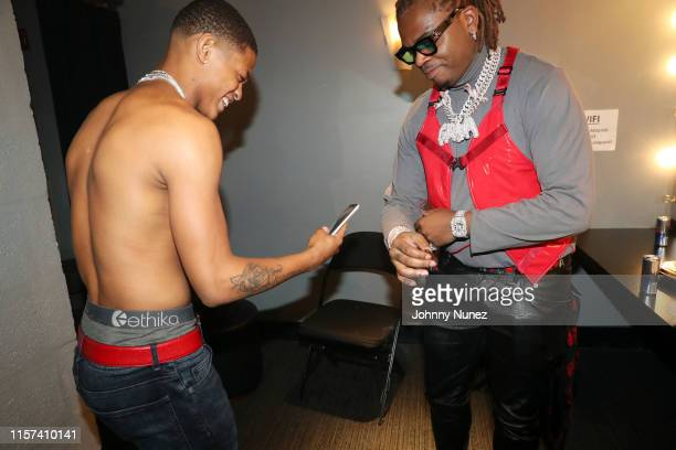 Osiris and Gunna backstage at the XXL Freshman Class 2019 Concert at PlayStation Theater on July 22 2019 in New York City