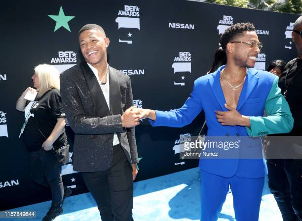 Osiris and Jacob Latimore attend the 2019 BET Awards at Microsoft Theater on June 23 2019 in Los Angeles California