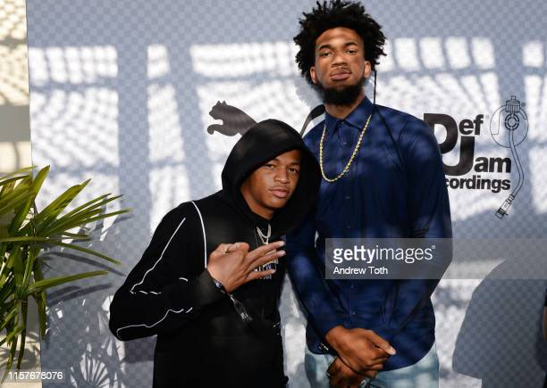 Osiris and Marvin Bagley III attend The Def Jam Recordings BETX celebration at Spring Place Beverly Hills in partnership with Puma Courvoisier Beats...
