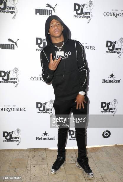 Osiris attends The Def Jam Recordings BETX celebration at Spring Place Beverly Hills in partnership with Puma Courvoisier Beats and Heineken on June...