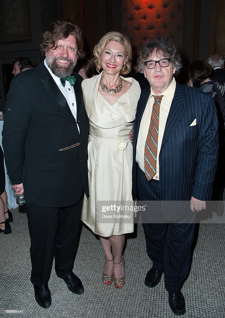 Oskar Eustis, Paul Muldoon and guest attends the 2nd Annual Decades Ball at Capitale on June 3, 2013 in New York City.