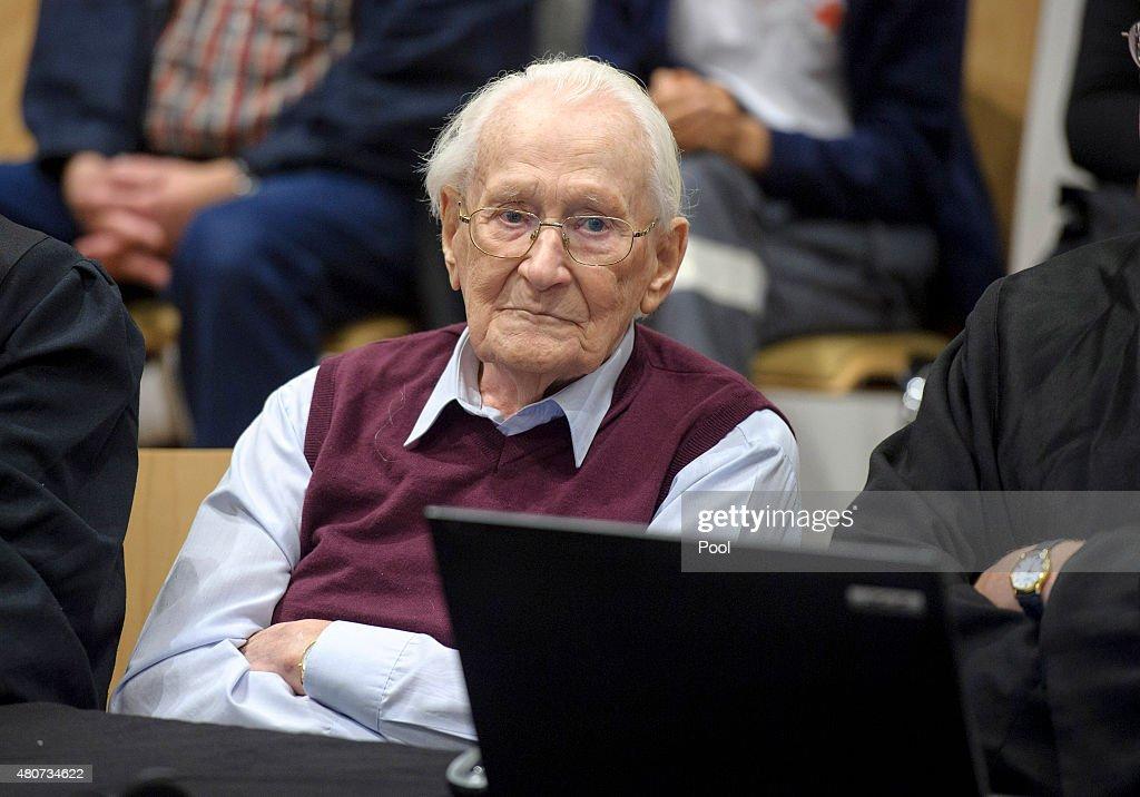 Court Reaches Verdict In Oskar Groening Auschwitz Trial : News Photo