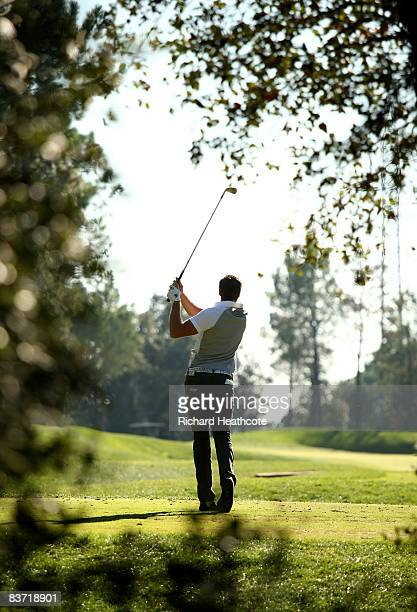 Oskar Henningsson of Sweden in action during the fifth round of the Final Qualifying Stage of the European Tour Qualifying School at PGA Golf de...