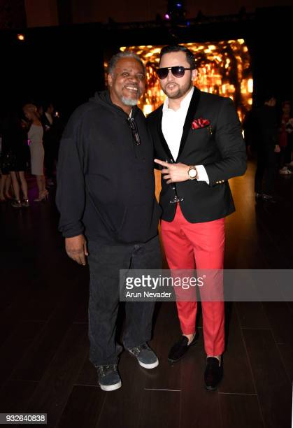 Oskar Rivera attends Los Angeles Fashion Week Powered by Art Hearts Fashion LAFW FW/18 10th Season Anniversary Backstage and Front Row Day 4 at The...