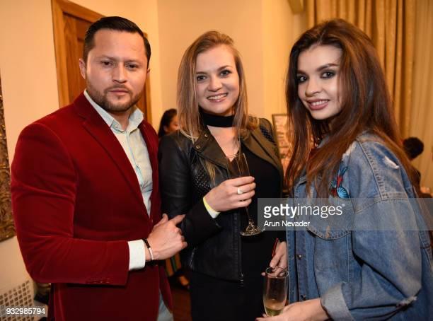Oskar Rivera Nika Blyzniuk and Kristina Senko attend Los Angeles Fashion Week Powered by Art Hearts Fashion LAFW FW/18 10th Season Anniversary...