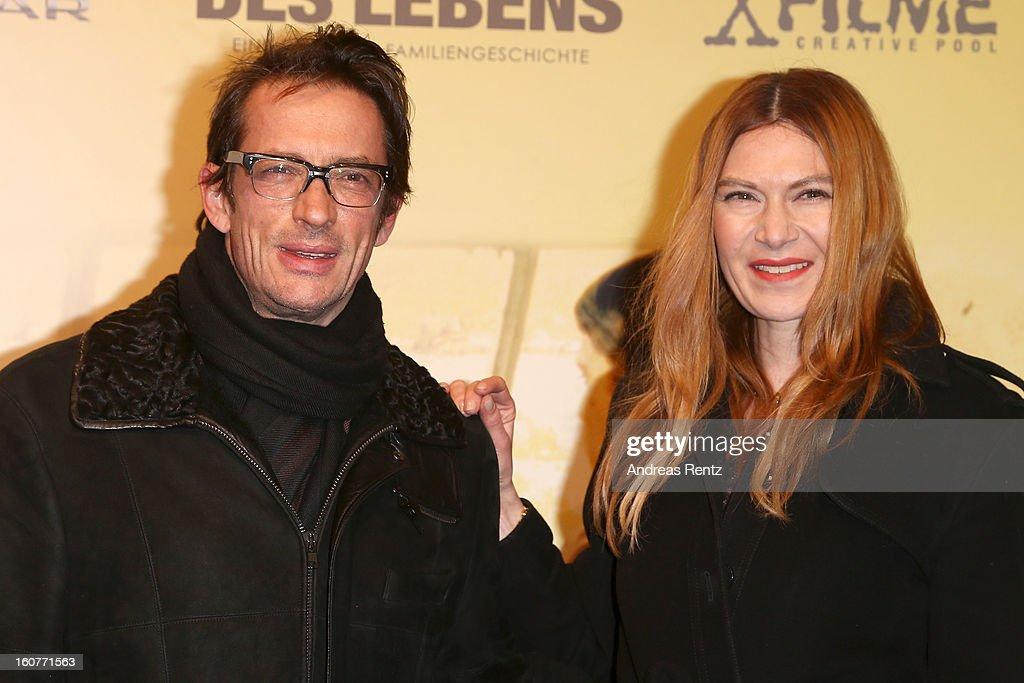 Oskar Roehler and Alexandra Fischer-Roehler attend 'Quelle des Lebens' Germany Premiere at Delphi Filmpalast on February 5, 2013 in Berlin, Germany.