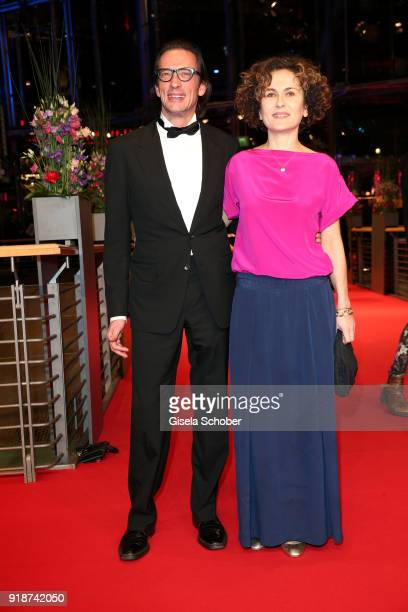 Oskar Roehler and guest attend the Opening Ceremony 'Isle of Dogs' premiere during the 68th Berlinale International Film Festival Berlin at Berlinale...