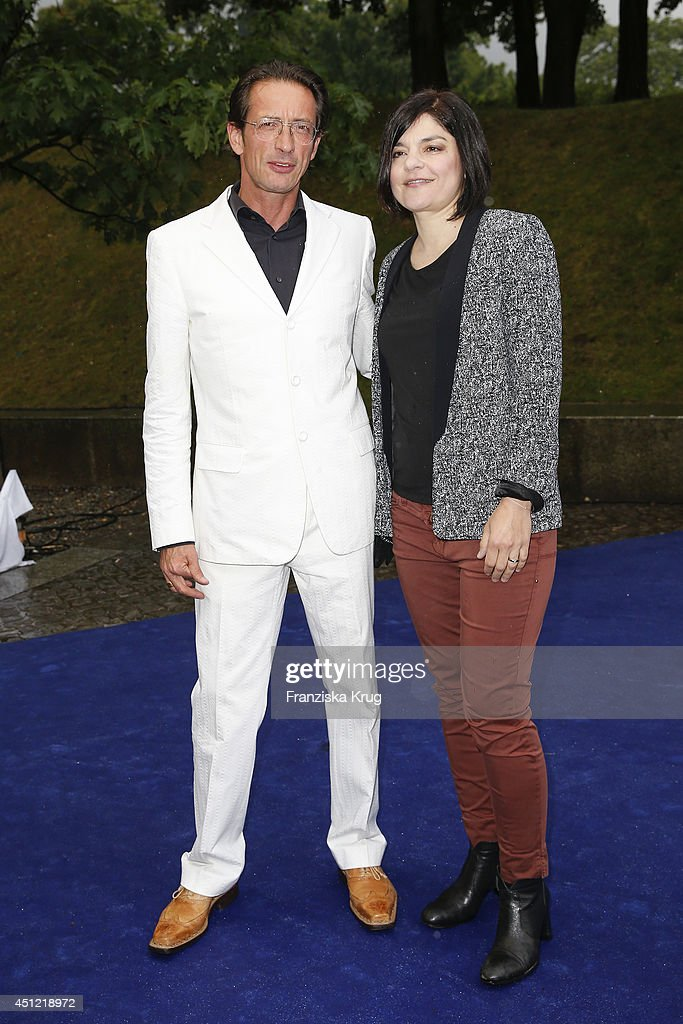 Oskar Roehler and Jasmin Tabatabai attend the producer party 2014 (Produzentenfest) of the Alliance German Producer - Cinema And Television on June 25, 2014 in Berlin, Germany.