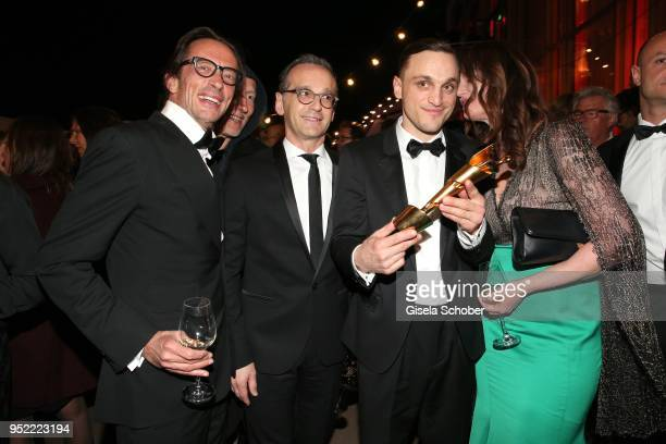 Oskar Roehler Heiko Maas Franz Rogowski Natalia Woerner during the Lola German Film Award party at Palais am Funkturm on April 27 2018 in Berlin...