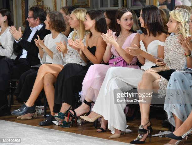 Oskar Roehler Liv Lisa Fries Ida Immendorff Oda Jaune Emilia Schule Lena MeyerLandrut and Caroline Daur attend the Kaviar Gauche Bridale Couture...