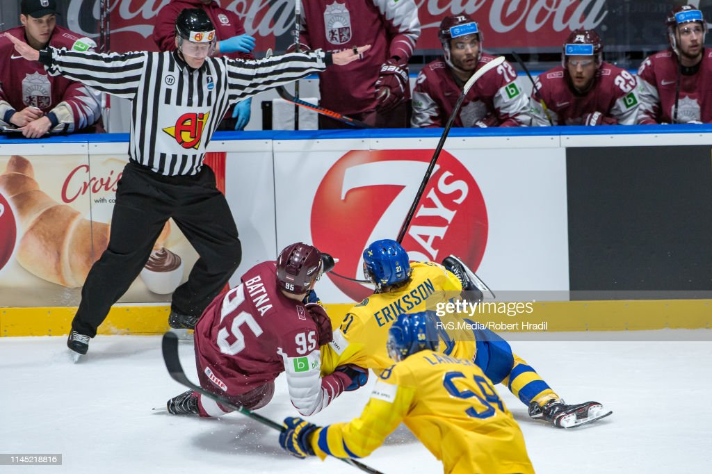 SVK: Sweden v Latvia: Group B - 2019 IIHF Ice Hockey World Championship Slovakia