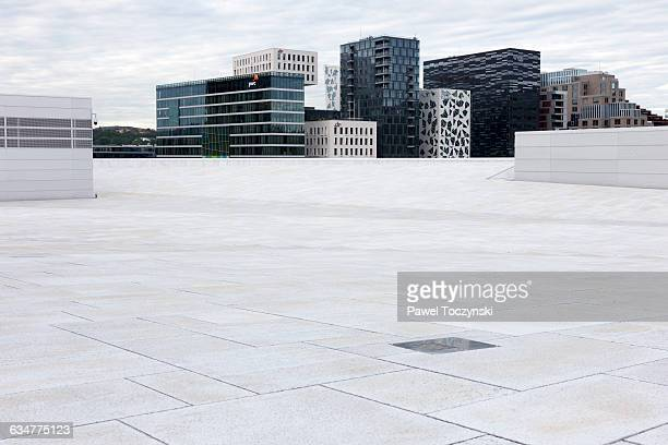 oslo barcode project from oslo opera house - オスロ ストックフォトと画像