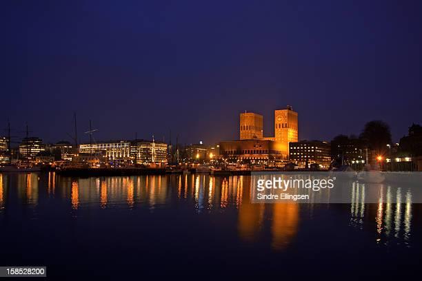Oslo city center at dawn