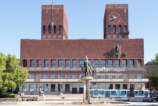 oslo city hall - nobel prize stock pictures, royalty-free photos & images
