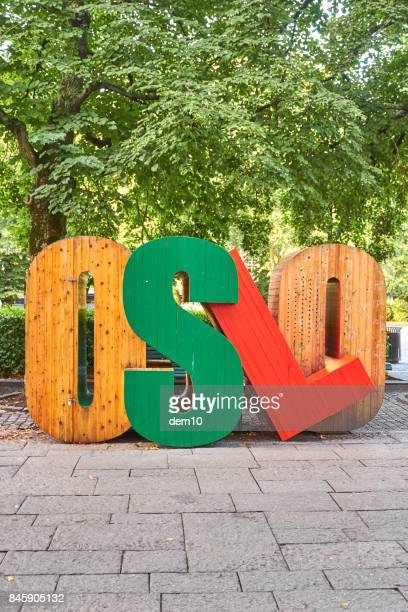 oslo letters - oslo stock pictures, royalty-free photos & images