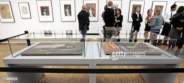 The Edward Munch masterpieces ' The Scream' and 'Madonna' which were stolen by masked gunmen in a daylight raid on the Oslobased Munch Museum on...