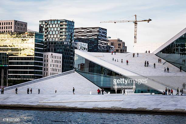 Oslo Opera House and Skyline, Oslo, Norway