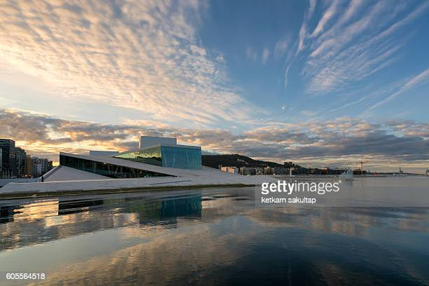 oslo opera house in the morning. - oslo stock pictures, royalty-free photos & images