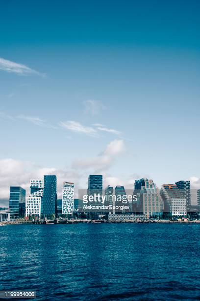 oslo sea view - nobel prize stock pictures, royalty-free photos & images