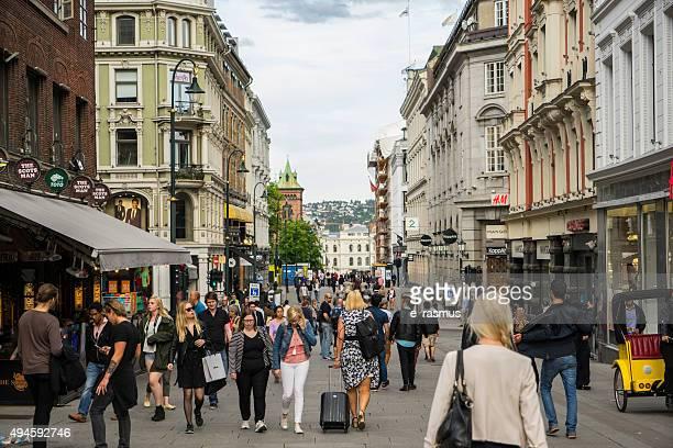 Die Einkaufswelt von Oslo street