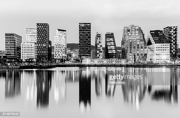 Oslo skyline, Barcode area, Norway.
