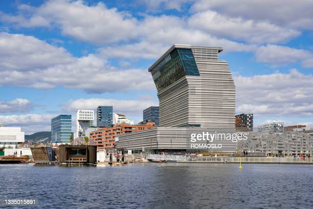 oslo skyline, oslo norway - edvard munch stock pictures, royalty-free photos & images