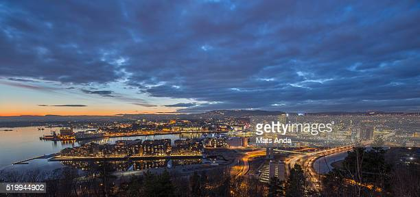 Oslo skyline panorama, Norway.