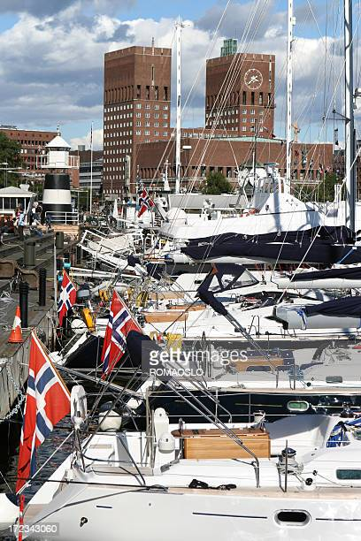 Oslo Town Hall and harbour