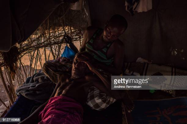 Osman Hasan Yare about 70 is cared for by a relative at Tawwakul 2 Diinsoor in Baidoa Somalia Yare came to the camp of close to 155000 people with...