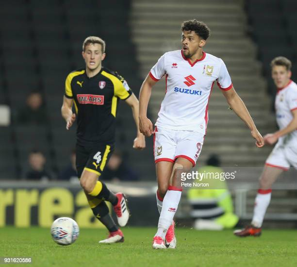Osman Sow of Milton Keynes Dons in action during the Sky Bet League One match between Milton Keynes Dons and Rotherham United at StadiumMK on March...