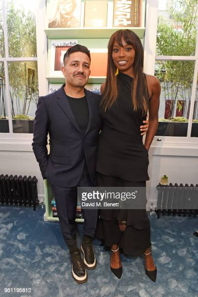 Osman Yousefzada and Lorraine Pascale attend the House Of Osman launch party supported by Peroni Ambra on April 25, 2018 in London, England.