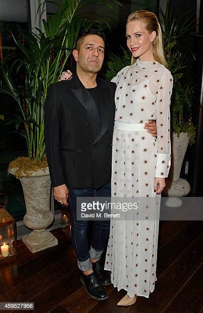 Osman Yousefzada and Poppy Delevingne celebrate the launch of the fourth issue of collaborative journal 'The Collective' a crossdisciplinary...